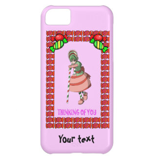 Candy Cane girl with toffees iPhone 5C Cover