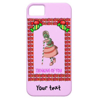 Candy Cane girl with toffees iPhone SE/5/5s Case