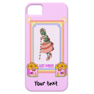 Candy Cane girl with with cookie houses iPhone SE/5/5s Case
