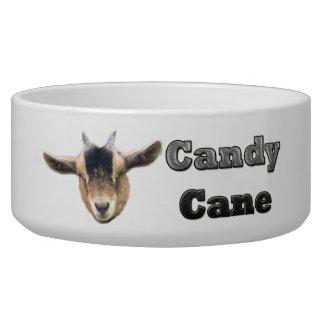 Candy Cane Goat/Doggie Dish Dog Bowls