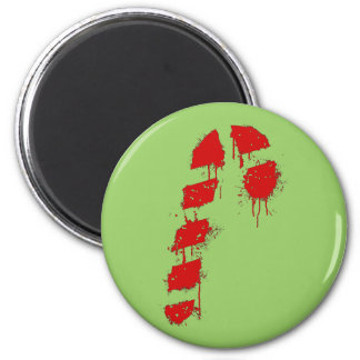 Candy Cane Graffiti Magnet