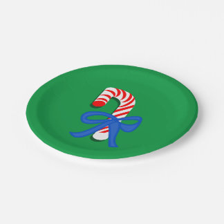 Candy Cane Green 7-Inch Paper Plates  sc 1 st  Zazzle & Candy Canes Plates | Zazzle