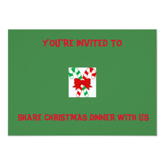 CANDY CANE GREEN INVITATIONS
