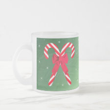 Candy Cane Green Satin Mug mug