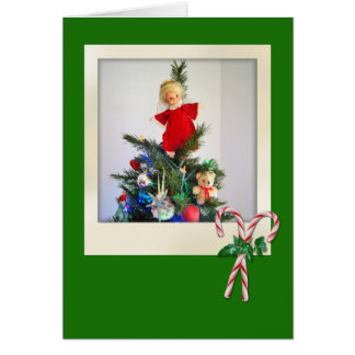 Candy Cane Greetings Card