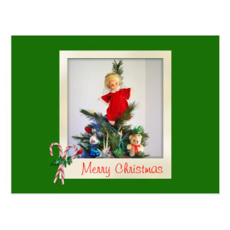 Candy Cane Greetings Postcard