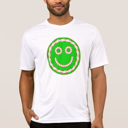 Candy Cane Happy Face T-shirt