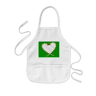 Candy Cane Heart Add Your Photo Frame Kids' Apron