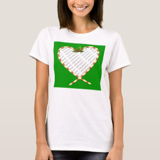 Candy Cane Heart Add Your Photo Frame T-Shirt
