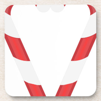 candy cane heart beverage coaster