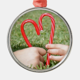 Candy Cane Heart Christmas Tree Ornaments