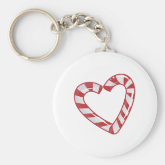 Candy Cane Heart Key Chains