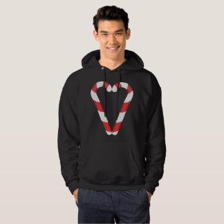 candy cane heart mens hooded hoodie sweatshirt