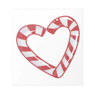 Candy Cane Heart Notepads