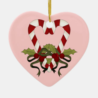 Candy Cane Heart Personalized Ornament