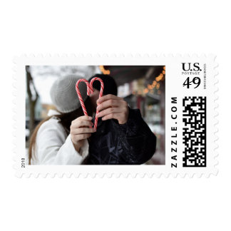 Candy Cane Heart Postage