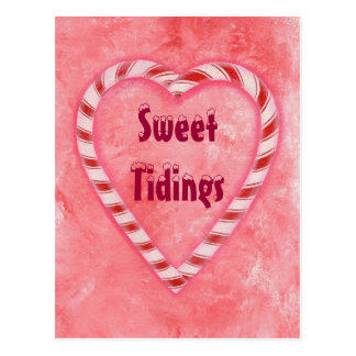 Candy Cane Heart Sweet Tidings Christmas Postcards