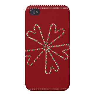 Candy Cane Hearts iPhone 4/4S Cover