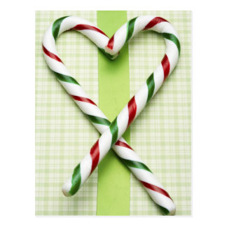 Candy Cane Hearts Postcard