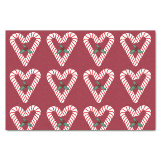 """Candy Cane Hearts Tissue Paper 10"""" X 15"""" Tissue Paper"""