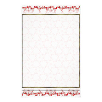 Candy Cane Hex Lattice Lg Any Color Stationary Stationery