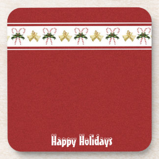 Candy Cane Holiday Cork Coaster