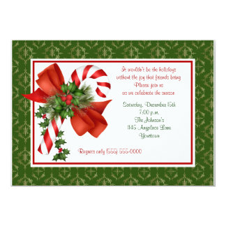 Candy Cane Holiday Party Invitation