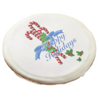 Candy Cane Holiday Sugar Cookie