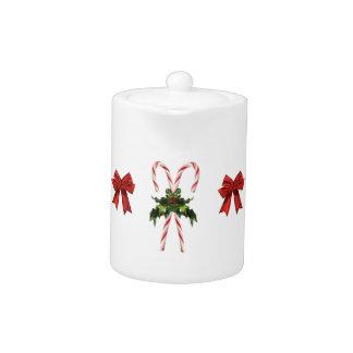 Candy Cane Holiday Tea- Cocoa Pot