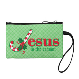 Candy Cane Jesus Bags Coin Wallet