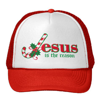 Candy Cane Jesus Hat