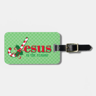 Candy Cane Jesus Luggage Tags