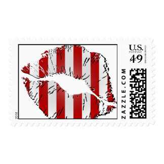 Candy Cane Kisses Postage Stamp
