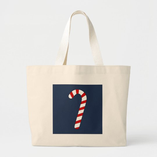 candy cane large tote bag