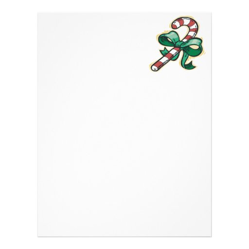 Candy Cane Personalized Letterhead