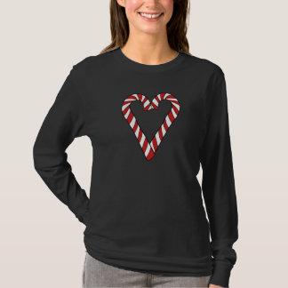 Candy cane love heart T-Shirt