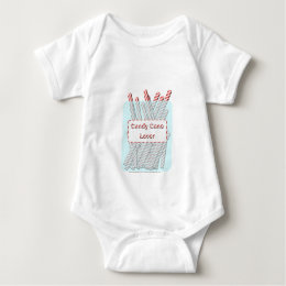 Candy Cane Lover Baby Bodysuit