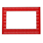 CANDY CANE MAGNETIC PICTURE FRAME