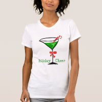 Candy Cane Martini Holiday T-shirt