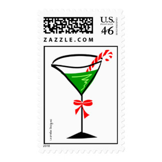 Candy Cane Martini Stamp