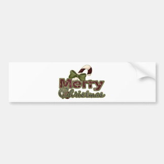 Candy Cane Merry Christmas Bumper Stickers