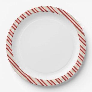 Candy Cane Paper Plates  sc 1 st  Zazzle & Candy Cane Christmas Plates | Zazzle