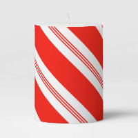 Candy Cane Pattern 1 Pillar Candle