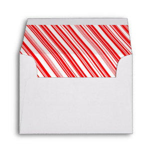 Candy Cane Stripe Envelopes Zazzle