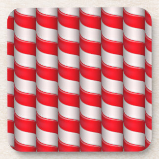 Candy cane pattern coaster