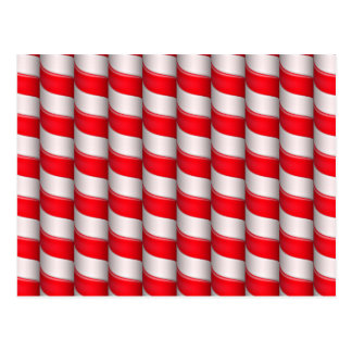 Candy cane pattern postcard