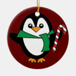 Candy Cane Penguin Christmas Tree Ornaments