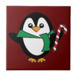 Candy Cane Penguin Tiles