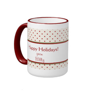 Candy Cane Photo Christmas Mug