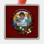 Candy Cane Photo Frame Christmas Ornament